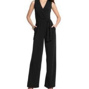 NY Collection Sleeveless Surplice WideLeg Jumpsuit